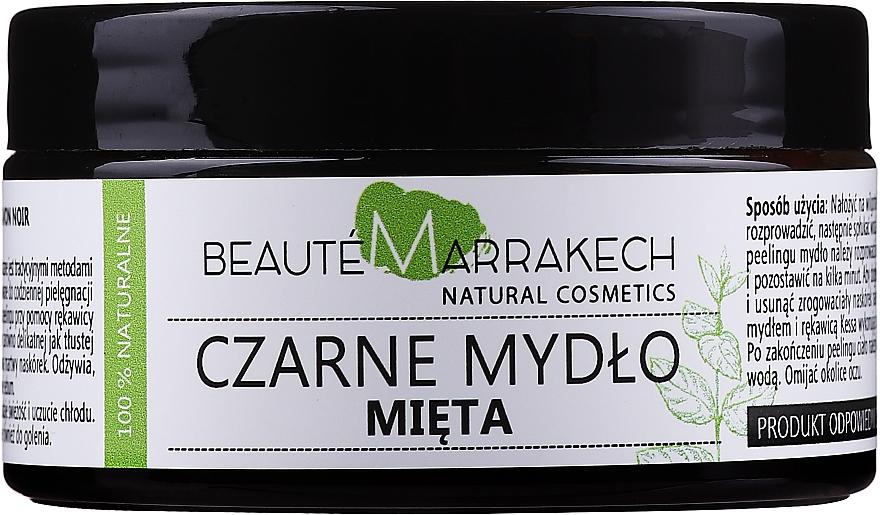 Naturalne marokańskie czarne mydło Mięta - Beauté Marrakech Savon Noir Moroccan Black Soap Mint — фото N1