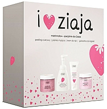 Kup Zestaw - Ziaja I Love Ziaja Marshmallow (b/peeling/300ml + h/cr/50ml + shower/gel/260ml + b/foam/250ml)