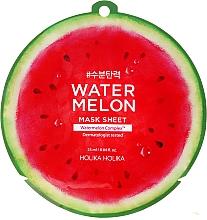 Nawilżająca maska na tkaninie do twarzy Arbuz - Holika Holika Watermelon Mask Sheet — фото N1