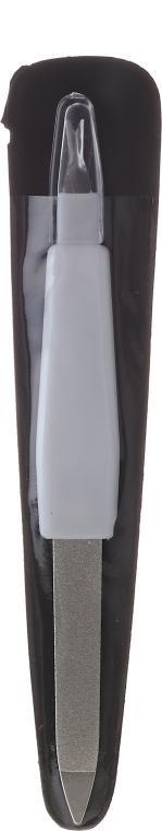 Pilnik metalowy z trymerem do skórek, 12.5 cm, 2058, biały - Donegal — фото N1