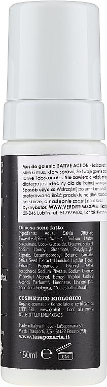 Pianka do golenia - La Saponaria Sativ Action Shaving Mousse — фото N2
