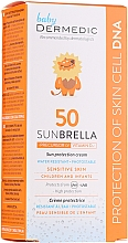 Kup Wodoodporny fotostabilny krem ochronny do wrażliwej skóry dzieci i niemowląt SPF 50+ - Dermedic Sunbrella