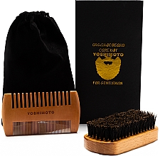 Kup Zestaw do pielęgnacji brody - Yoshimoto Gentleman's Code ST062 (comb*2 + bag)