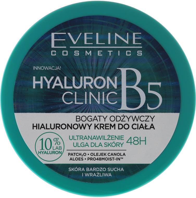 Hialuronowy krem do ciała - Eveline Cosmetics Hyaluron Clinic Cream
