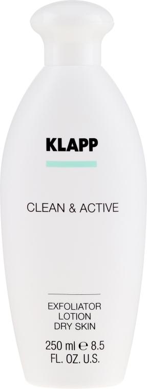 Peelingujący lotion do suchej skóry ciała - Klapp Clean & Active Exfoliator Dry Skin — фото N2