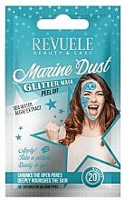 Kup Brokatowa maska peel-off do twarzy z ekstraktem z alg i wodą morską - Revuele Glitter Mask Marine Dust