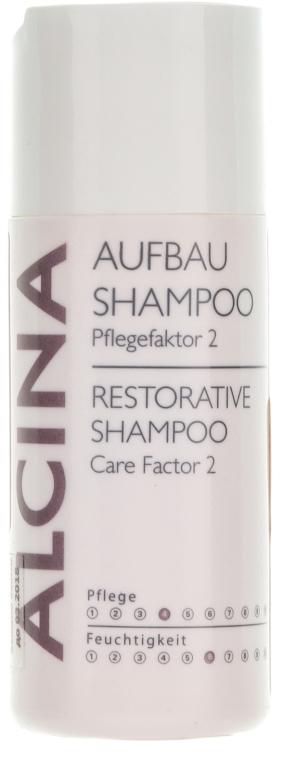 Regenerujący szampon do mocno zniszczonych włosów - Alcina Care Factor 2 Restorative Shampoo — фото N1