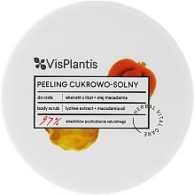 Peeling cukrowo-solny z ekstraktem z liczi i olejem makadamia - Vis Plantis Herbal Vital Care — фото N2