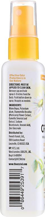 Mineralny dezodorant w sprayu do ciała Rumianek i zielona herbata - Crystal Essence Deodorant Spray — фото N2