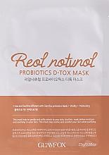 Probiotyczna maska w płachcie do skóry odwodnionej - Glamfox Probiotics D-Tox Mask — фото N1