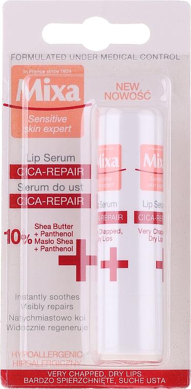 Serum do ust - Mixa Cica-Repair Lip Serum 10% Shea Butter + Panthenol — фото N1