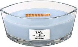Kup Świeca zapachowa w szkle - WoodWick Hearthwick Flame Ellipse Candle Soft Chambray