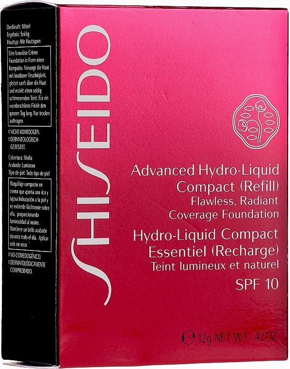 Nawilżający podkład w kompakcie (wymienny wkład) - Shiseido Advanced Hydro Liquid Compact Foundation SPF 10