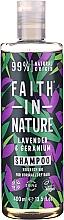 Kup Szampon do włosów normalnych i suchych Lawenda i geranium - Faith In Nature Lavender & Geranium Shampoo