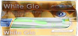 Kup Zestaw: wybielająca pasta do zębów dla palaczy + zielona szczoteczka - White Glo Smokers Formula Whitening Toothpaste (t/paste 100 ml + t/brush)
