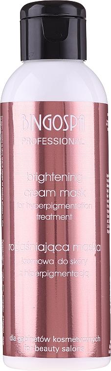 Rozjaśniająca maska kremowa do skóry z hiperpigmentacją - BingoSpa Artline Brightening Cream Mask