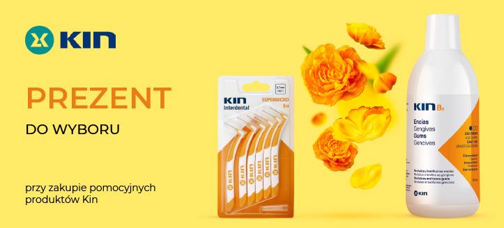 Przy zakupie promocyjnych produktów Kin szczoteczkę międzyzębową lub do zębów otrzymasz w prezencie.