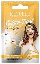 Kup Brokatowa maska peel-off do twarzy z kolagenem - Revuele Glitter Mask Golden Dust