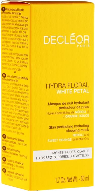 Wygładzająca maska nawilżająca do twarzy na noc - Decléor Hydra Floral White Petal Skin Perfecting Hydrating Sleeping Mask — фото N2