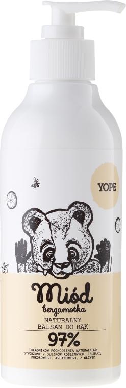 Naturalny balsam do rąk - Yope Miód i bergamotka