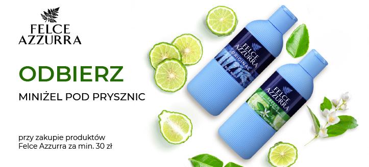 Kup produkty Felce Azzura za min. 30 zł, a perfumowany miniżel pod prysznic otrzymasz w prezencie.