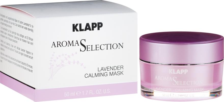 Kojąca kremowa maseczka do twarzy Lawenda - Klapp Aroma Selection Lavender Calming Mask — фото N1