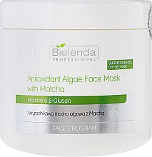 Antyrodnikowa maska algowa z matchą - Bielenda Professional Face Program Antioxidant Algae Face Mask With Matcha — фото N1