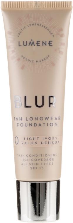 Długotrwały podkład do twarzy - Lumene Blur 16H Longwear Foundation SPF 15