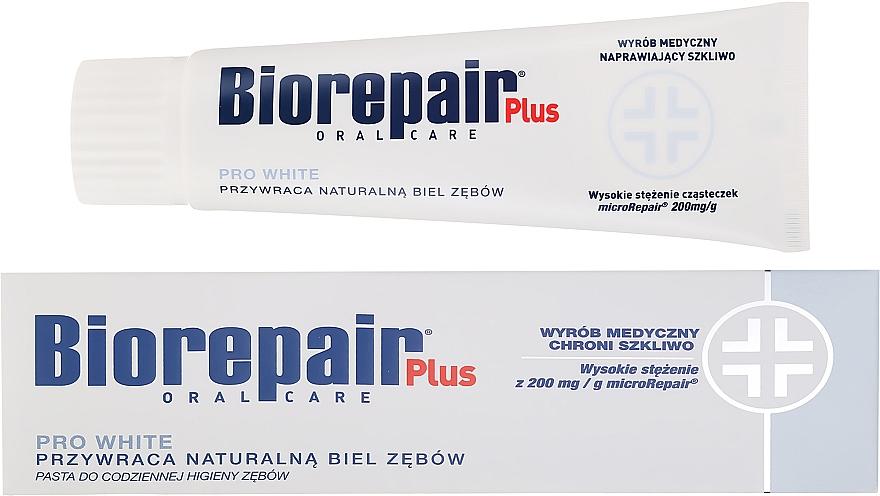 Pasta do codziennej higieny zębów przywracająca ich naturalną biel - BioRepair Plus PRO White