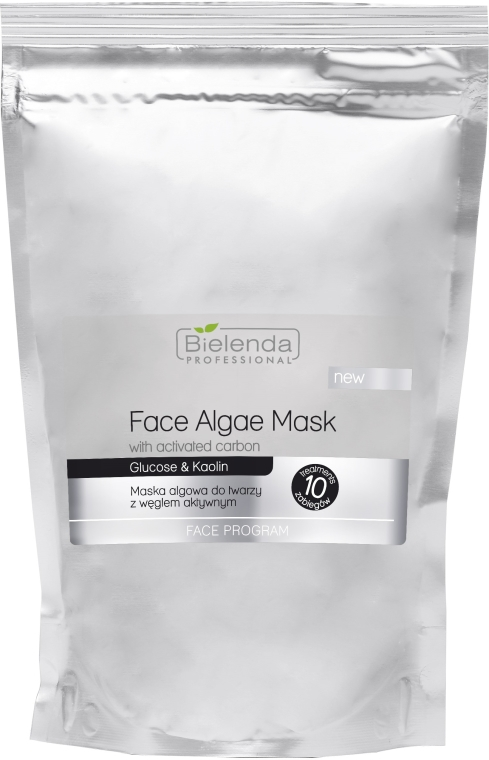 Maska algowa do twarzy z węglem aktywnym - Bielenda Professional Algae Face Mask With Activated Carbon — фото N1