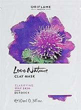 Kup Oczyszczająca maska glinkowa do cery tłustej Łopian - Oriflame Love Nature Burdock Clay Mask