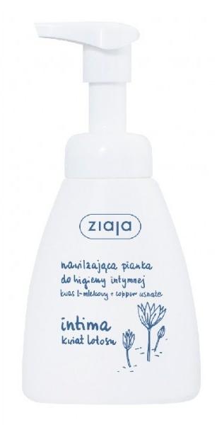 Nawilżająca pianka do higieny intymnej Kwiat lotosu - Ziaja Intima