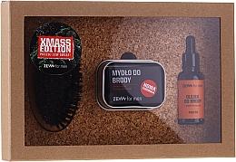 Kup Zestaw - Zew For Men Set (oil 30 ml + soap 85 ml + holder 1 pcs + brush 1 pcs)