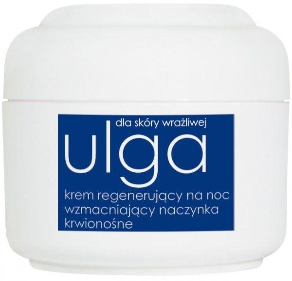 Krem regenerujący na noc do skóry wrażliwej wzmacniający naczynka krwionośne - Ziaja Ulga