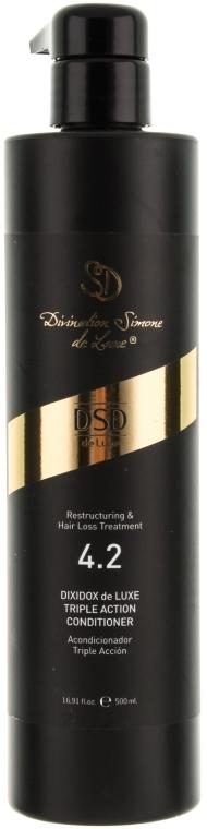 Balsam-odżywka o podwójnym działaniu przeciw wypadaniu włosów N 4.2 - Simone Dixidox DeLuxe Triple Action Conditioner — фото N4