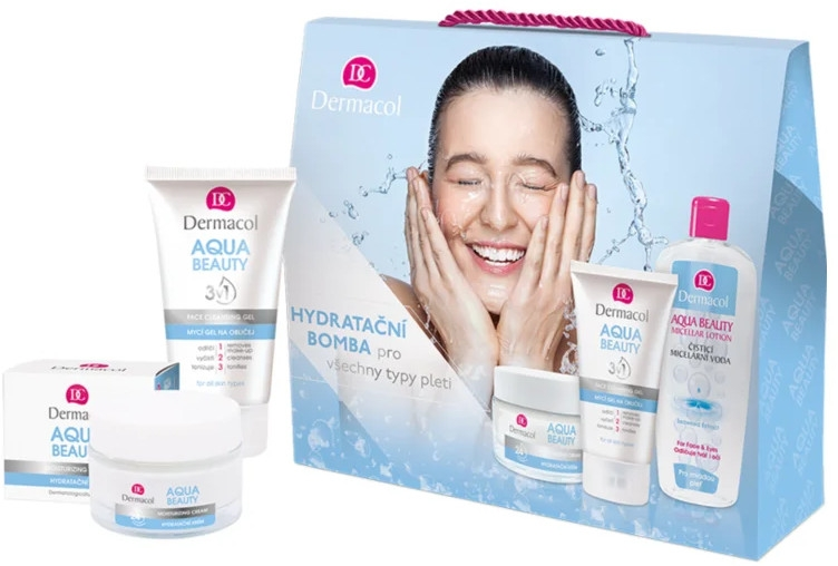 Zestaw do twarzy - Dermacol Aqua Beauty (cr 50 ml + gel 150 ml + micellar 400 ml) — фото N1