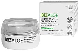 Kup Nawilżający krem dla skóry tłustej - Ibizaloe Moisturizing Cream SPF15 For Oily Skin