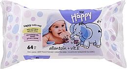 Kup Chusteczki nawilżane dla dzieci Alantoina i witamina E (64 szt.) - Bella Baby Happy Vit E & Allantoin