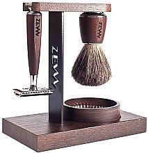 Zestaw - Zew For Men Wet Shaving Set (soap/85ml + razor/1psc + sh/brush/1pcs + sh/cup/1pcs + sh/stand/1pcs) — фото N2