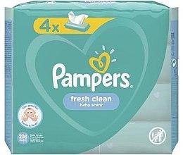 Kup Chusteczki nawilżane Baby Fresh Clean, 4 x 52 szt. - Pampers Natural Clean Wipes