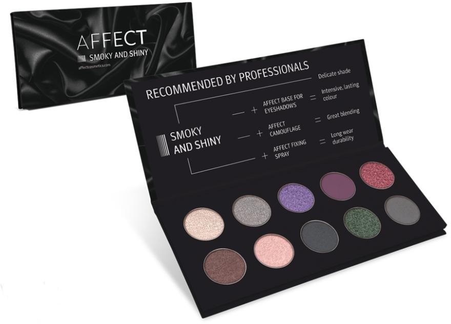 Paletka prasowanych cieni do powiek - Affect Cosmetics Smoky And Shiny Eyeshadow Palette