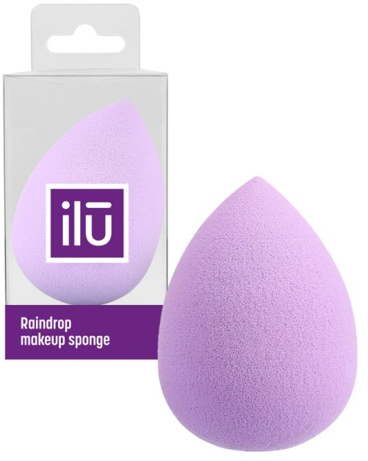 Gąbka do makijażu, fioletowa - Ilu Sponge Raindrop Purple