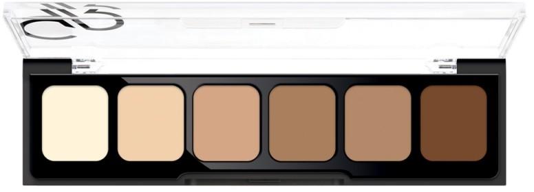 Korygująca i tuszująca paleta korektorów - Golden Rose Correct&Conceal Concealer Cream Palette