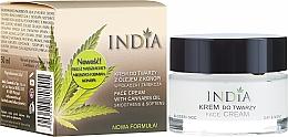 Kup Wygładzający krem do twarzy z olejem z konopi - India
