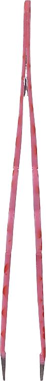Pęseta do brwi, różowa z czerwonymi serduszkami - Glamtech Valentines Tweezer — фото N3