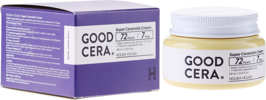 Ceramidowy krem do twarzy - Holika Holika Good Cera Super Cream Sensitive