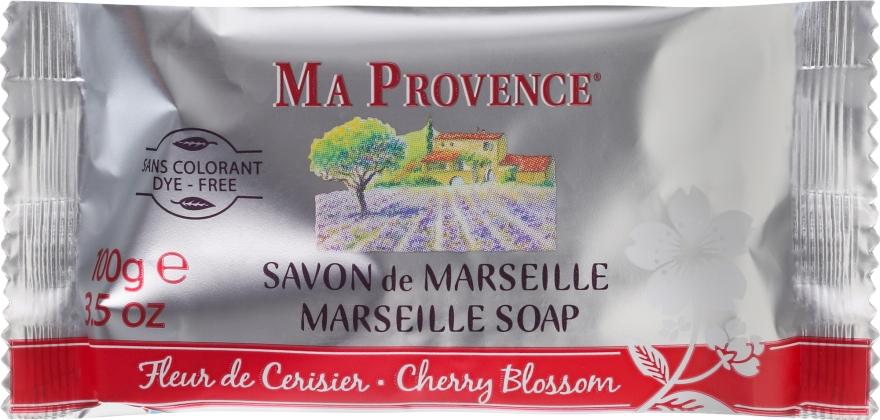 Mydło w kostce Kwiat wiśni - Ma Provence Marseille Soap Cherry Blossom — фото N1