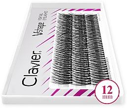 Kup Kępki sztucznych rzęs, 12mm - Clavier V-Shape Eyelashes