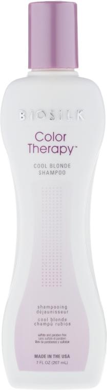 Szampon neutralizujący żółtawe odcienie - BioSilk Color Therapy Cool Blonde Shampoo — фото N1