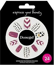 Kup Zestaw sztucznych paznokci z klejem, 3057 - Donegal Express Your Beauty